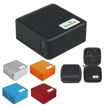 Square Bluetooth Speaker with Case
