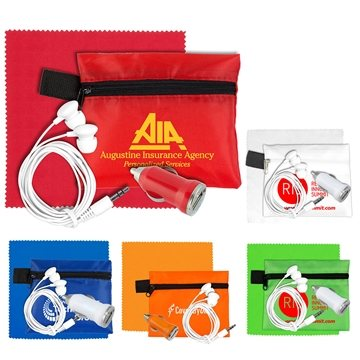 Mobile Tech Car Accessory Kit with Microfiber Cleaning Cloth