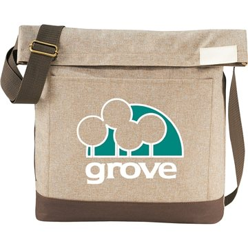 Chambray Foldover 11'' Tablet Tote