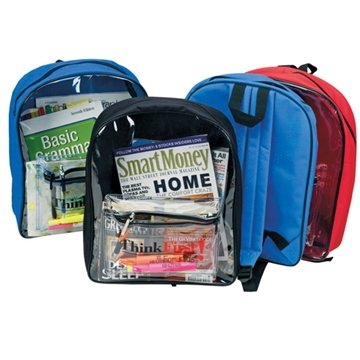 Backpack with Clear Front