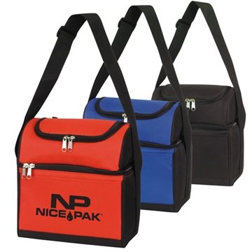 Round Top Dual Compartment 6-Pack Cooler