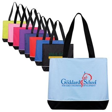 Large Zippered Promo Tote