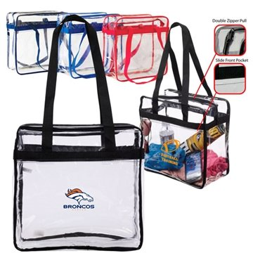 Transparent Stadium Zippered Tote
