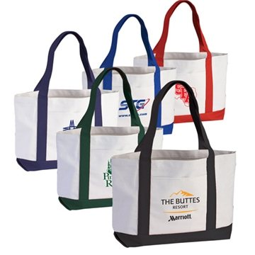 2-Tone Poly Boat Tote