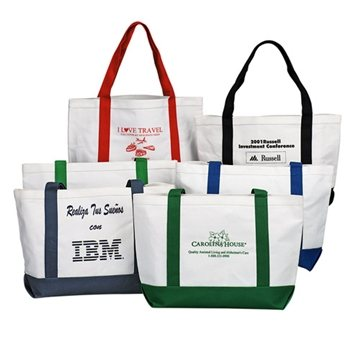 Canvas Boat Tote with Hand & Shoulder Straps