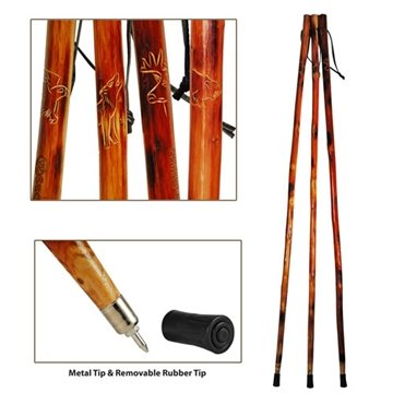 55'' Wooden Hiking Stick