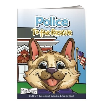 Coloring Book with Mask: Police to the Rescue