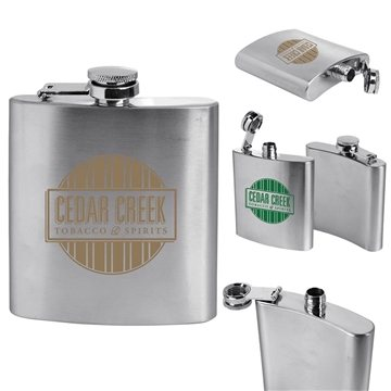 Stainless Steel Flask 6 oz