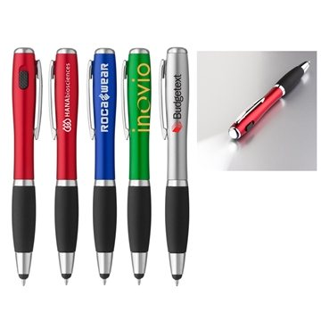 Curvaceous Stylus Ballpoint with light