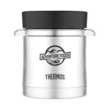 Thermos® Food Jar with Mircowavable Container - 12 oz - Black