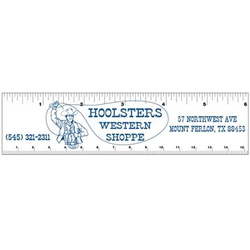 1 1⁄2'' x 6'' Rectangle Magnetic Rulers