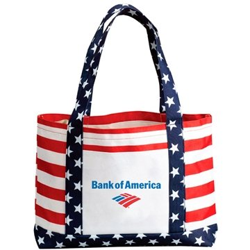 600D Polyester Patriotic Tote Bag