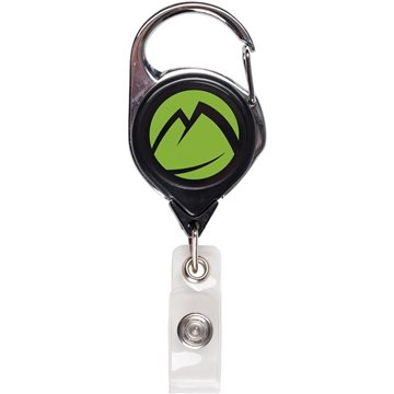 Round Retractable Badge Reel With Sport Clip