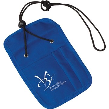 Credential Holder With Zipper Pocket