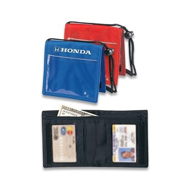 Bi-Fold Nylon Neck Wallet
