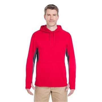 UltraClub® Cool & Dry Sport Hooded Pullover