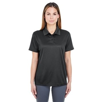 UltraClub® Cool & Dry Elite Mini-Check Jacquard Polo