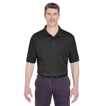 UltraClub® Cool & Dry Sport Polo with Pocket