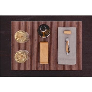 The Elan - Bamboo Stainless Steel Waiter-Style Corkscrew