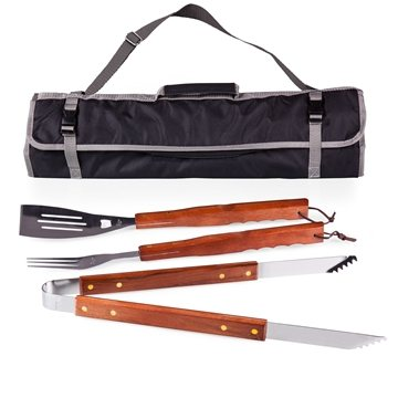 3-Piece Barbeque Kit with Tote