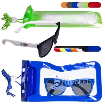 Matte Fashion Sunglasses & Water-Resistant Bag