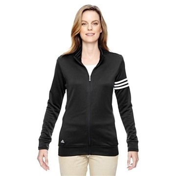 adidas Golf climalite 3-Stripes Full-Zip