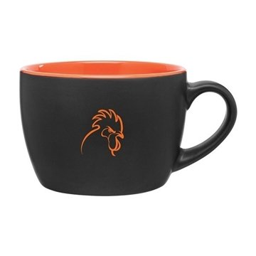 18 oz Bolzano - Matte Black - Orange