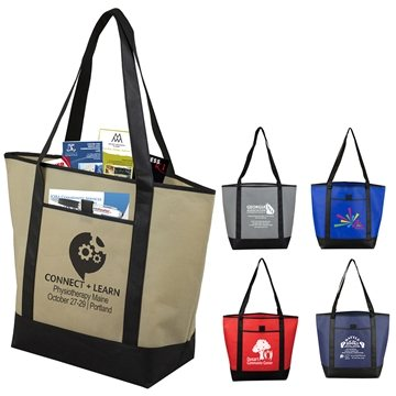 The City Life' Beach, Corporate and Travel Boat Tote Bag