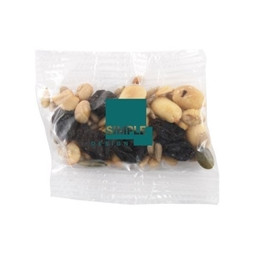 Small Imprinted Bountiful Bag Filled with Trail Mix