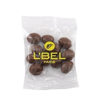 Medium Imprinted Bountiful Bag Filled with Chocolate Covered Peanuts