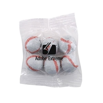 Medium Imprinted Bountiful Bag Filled with Chocolate Baseballs