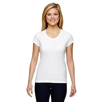 Champion Vapor® Ladies' Cotton Short-Sleeve V-Neck T-Shirt