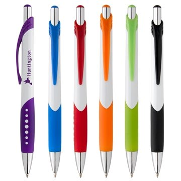 Vibrant dotted line grip pen