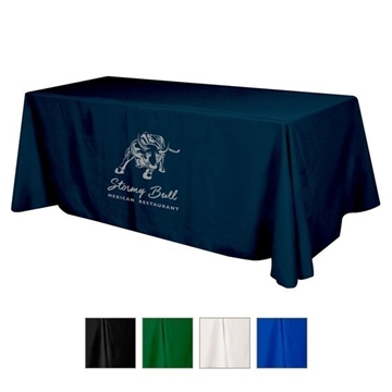 Flat Polyester 3-sided Table Cover - fits 8' standard table