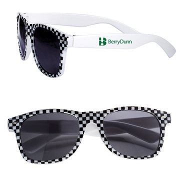 Checkered Flag (Racing Theme) Based Sunglasses