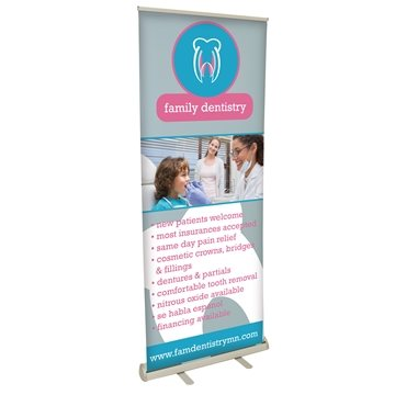 31.5'' Retractable Poly Pop-Up Banner