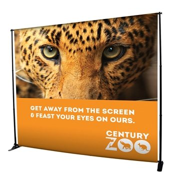 10' Deluxe Exhibitor Expanding Backdrop Display Kit