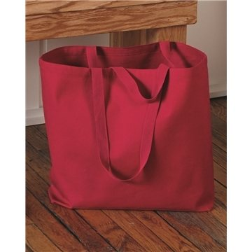 Q-Tees - 24.5L Jumbo Canvas Tote