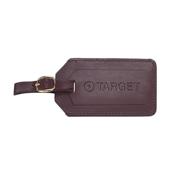 Cortina Leather Luggage Tags with Security Flap Cover