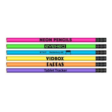 ''Neon Pencils'' #2 HB Lead Pencils - Neon Barrel Colors