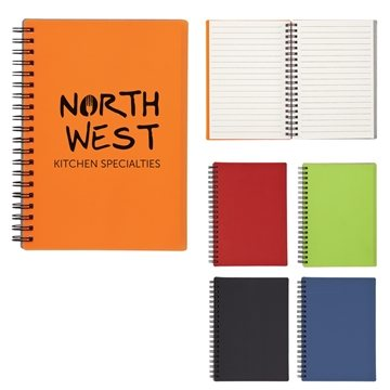 5'' X 7'' Rubbery Spiral Notebook