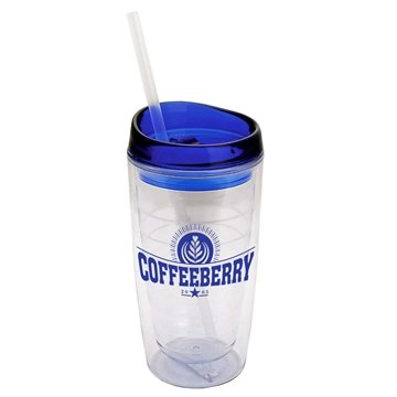 The View - 15 oz Insulated Transparent Tumbler
