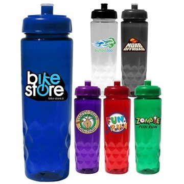 24 oz Poly-Saver PET Bottle with Push 'n Pull Cap, Full Color Digital