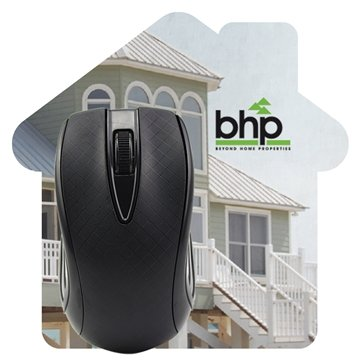 House Shaped Dye Sublimated Computer Mouse Pad