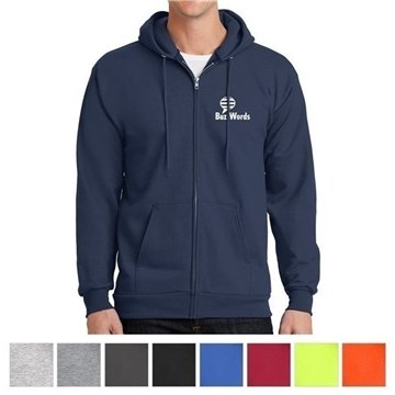 Port & Company® Essential Fleece Full-Zip Hooded Sweatshirt