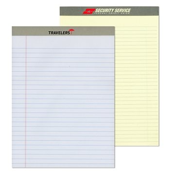 Senior writing pad with a 2 color imprint on the Tape
