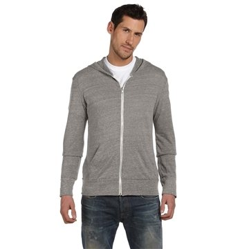 alternative Unisex Eco Long-Sleeve Zip Hoodie
