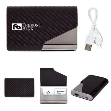 UL Listed 2-In-1 Zhuse Power Bank With Card Holder
