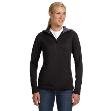 Russell Athletic Ladies' Tech Fleece Quarter-Zip Pullover Hood