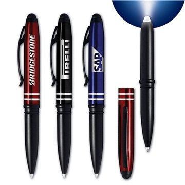 Torch Metal Pen + Stylus + LED Light